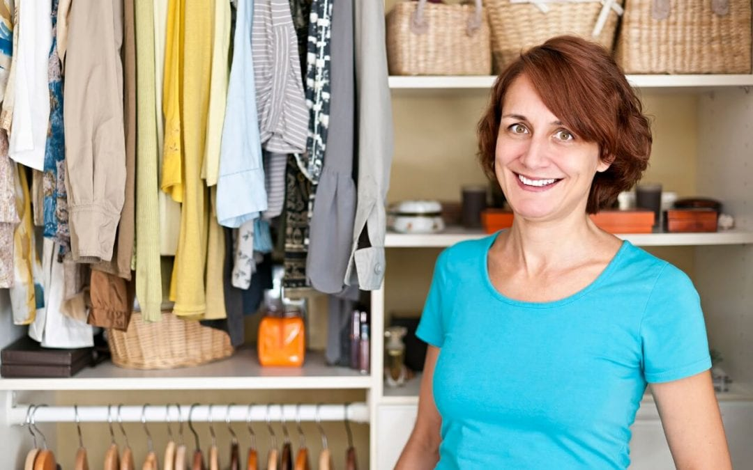 Organize your closet to have a clean, usable space.